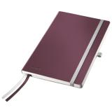 Notesblok Style A5 Soft linj. 80ark rød