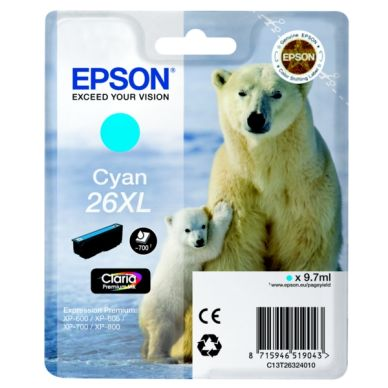 EPSON Mustepatruuna cyan, 700 sivua, high yield