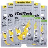 iCellTech PR70/ZA10/DA10/V10 5-p Hörapparatsbatteri