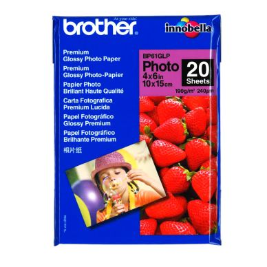 BROTHER Fotopapir Glossy 10x15 20 ark 190g