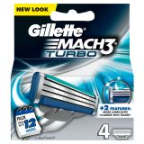 Gillette Mach3 Turbo 4 stk Barberblad