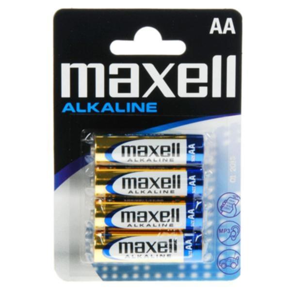MAXELL Maxell Batterier LR6/AA Alkaliske 4-pakk