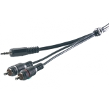 Vivanco Audiokabel, 1x 3.5mm hane - 2xRCA hane, 5m