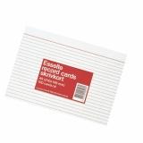 Kortistokortti A6, 100 kpl 2-väri viivat