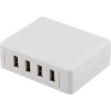 DELTACO USB-laddningsstation, 4 USB-portar, 6,8A