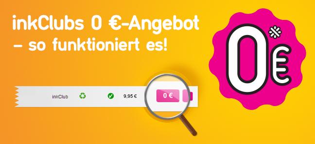 inkClubs 0 €-Angebot – so funktioniert es!