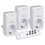 Nexa NEYC3 Fjernbetjente stikkontakter, hvid