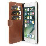 Plånboksfodral i läder, iPhone 7 Plus, Brun