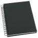 Muistikirja Grieg Design spiraali A5 viivoitettu, musta