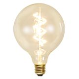 Decoration LED Klar filament lampa G125 E27, 3,5W