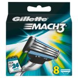 Gillette Mach3 8 stk barberblad