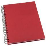 Anteckningsbok Grieg Design spiral A5 linjerat röd