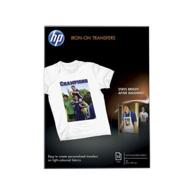 HP T-shirt transfer hvit A4 12 ark