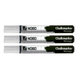Chalk Markers Nobo White 3 pack