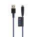 Xtorm Solid Blue Micro USB, 1m Kevlar