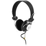 DELTACO headset med volymkontroll, 2m kabel