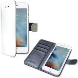Wally Wallet Case, iPhone 7, valkoinen/harmaa