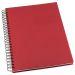 Muistikirja Grieg Design spiraali A5 viivoitettu, punainen
