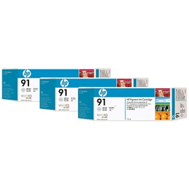 HP No91 light grey ink, 775ml (3)