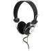 DELTACO headset med volumkontroll, 2m kabel