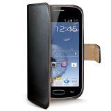Celly Wallet Case Galaxy Trend Black/Beige