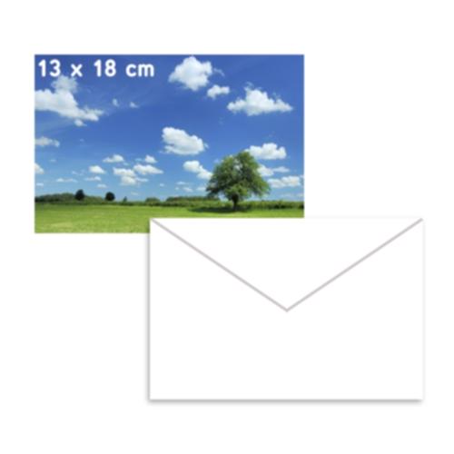 HP Fotopapir blankt 13x18cm 5 ark 250g + 3 Konvolutt