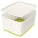 Förvaringslåda MyBox Medium med lock vit/grön