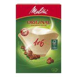 Melitta Kaffefilter 1x6 Ubleget pakke med 40 stk.