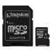 Kingston Minnekort 64GB,microSDXC,SD-adapter,Class 10