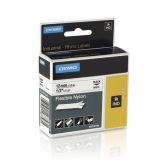 Tape Rhino flex nylon 12mm svart på vit