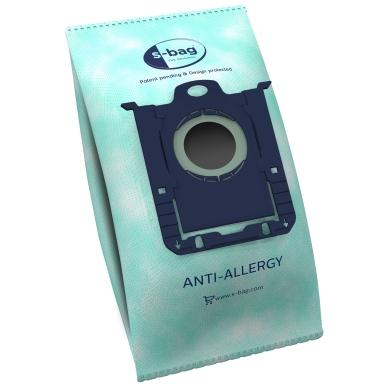 Original Dammsugarpåsar, S-Bag, Anti-Allergy, syntetfiber, 4st. E206 Motsvarar: N/A
