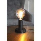 DUO puinen lampunjalka, E27, musta