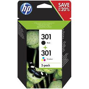 HP Multipack HP 301 bläckpatroner  (CH561EE, CH562EE) N9J72AE Motsvarar: N/A