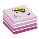 Post-it Kube 76 x 76 mm rosa/hvit