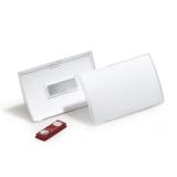 Namnskylt Clic Fold magnet 90x54 mm, 10 st