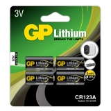 GP CR 123A-C1, 4-pack