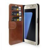 Plånboksfodral i läder, Galaxy S7, Brun