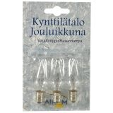 Reservlampa till julbelysning 24V 2W E10, 3 st