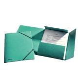 3-klap elastikmappe Esselte A4 grøn