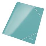 3-klap mappe Leitz WOW pap A4 isblå