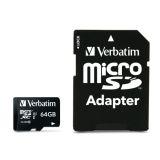 Verbatim 64GB MicroSDHC PRO Minneskort med adapter
