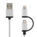 DELTACO USB sync/ladekabel 1 m, Lightning/USB micro-B, MFI