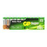 Batteri 1,5 V AA, Alkaliska (12-pack)