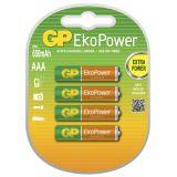 GP EkoPower 4-pack AAA NiMh batterier 650 mAh