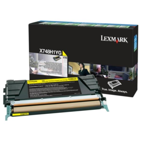 Pris på Lexmark Tonerkassett gul 10.000 sider X748H1YG Tilsvarer: N/A