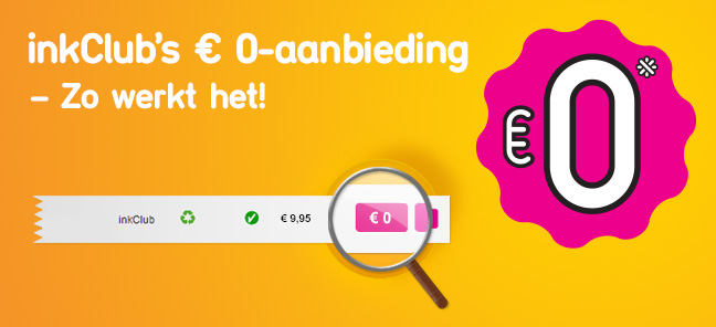 inkClub's 0 €-aanbieding – Zo werkt het!