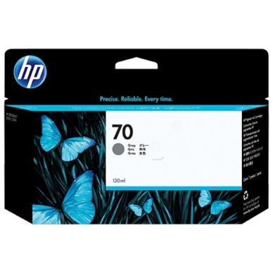 HP Mustepatruuna vaaleanmusta (harmaa) Vivera Nro 70, 130 ml