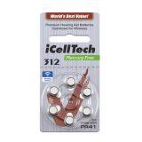 iCellTech PR41/ZA312/D312/V312 Hörapparatsbatteri