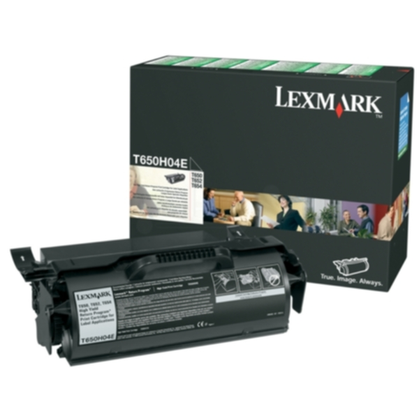 Pris på Lexmark Tonerkassett for etikettutskrift høy kapasitet, return T650H04E Tilsvarer: N/A