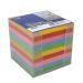Blockkub inkl. hållare, färgat papper